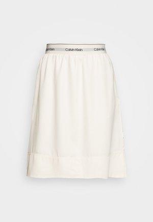 WASHED ELASTIC SKIRT - Spódnica trapezowa - white smoke