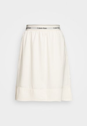 WASHED ELASTIC SKIRT - A-line skirt - white smoke