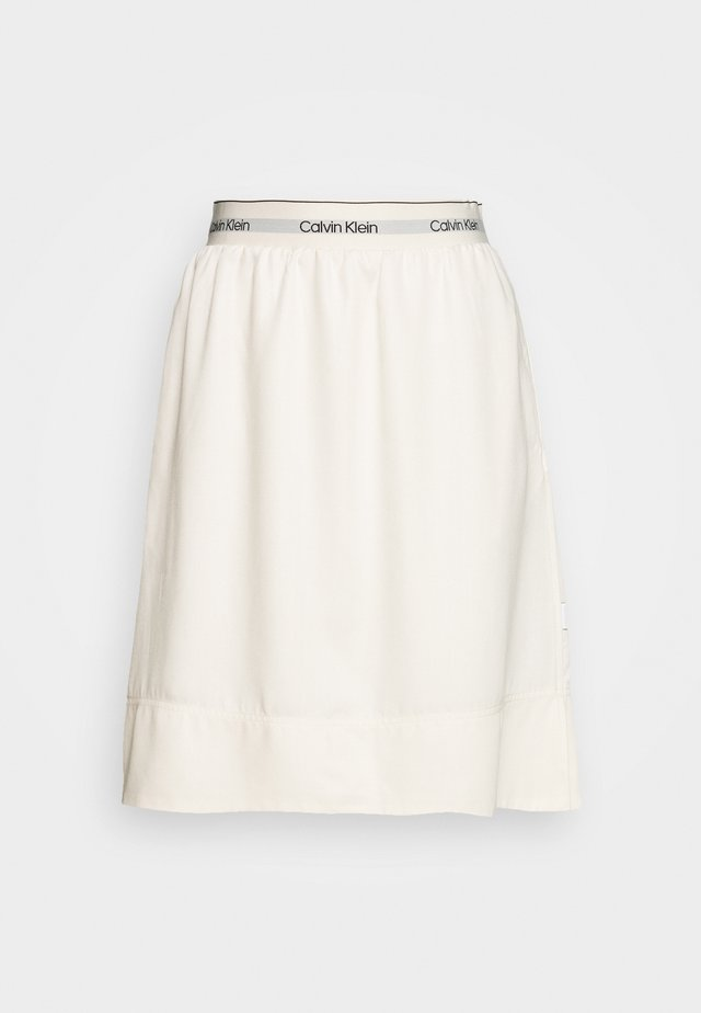 WASHED ELASTIC SKIRT - A-linjekjol - white smoke