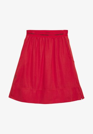 WASHED ELASTIC SKIRT - A-line skjørt - red