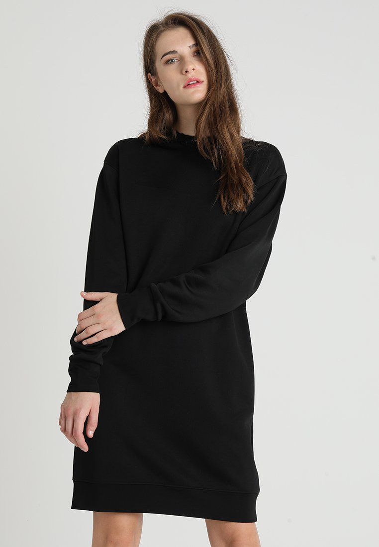 Calvin Klein - TRIM COCOON SHINE DRESS - Vestido informal - black