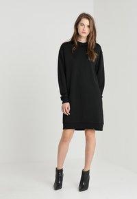 Calvin Klein - TRIM COCOON SHINE DRESS - Vestido informal - black - 2