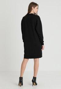 Calvin Klein - TRIM COCOON SHINE DRESS - Vestido informal - black - 3