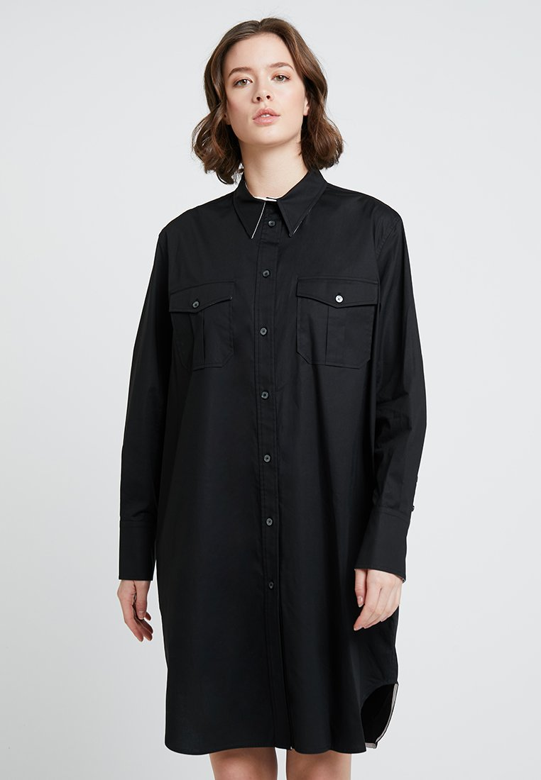 Calvin Klein - POLICE DRESS - Skjortekjole - black