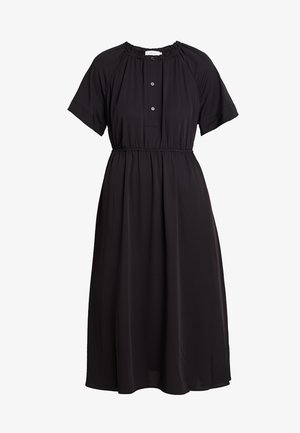 GATHERED WAIST DRESS - Maxikjoler - black