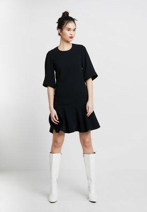SMOOTH TWILL WIDE DRESS - Day dress - black