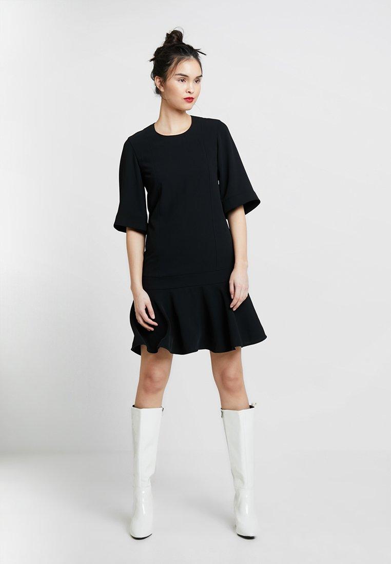 Calvin Klein - SMOOTH TWILL WIDE DRESS - Vestito estivo - black