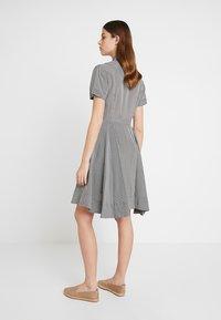 Calvin Klein - STRONG GINGHAM DRESS - Blousejurk - black/white - 2