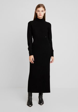 SUPERFINE COLUMN DRESS - Strikket kjole - black