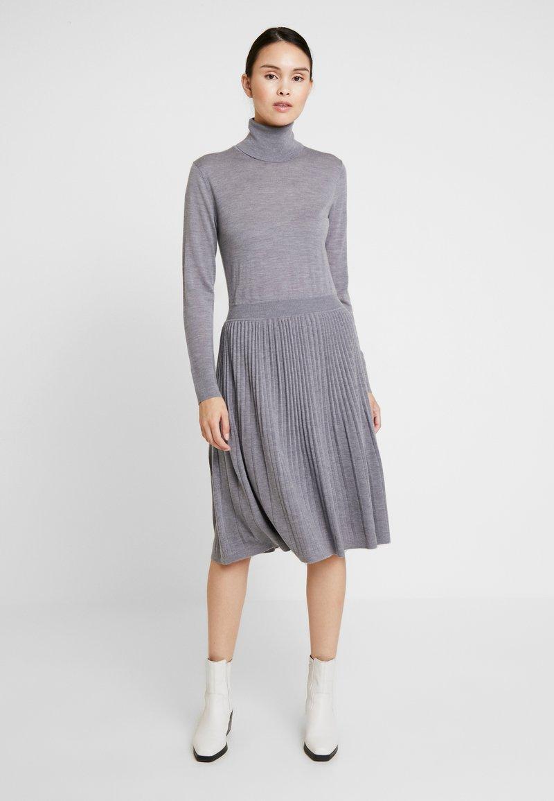 Calvin Klein - SUPERFINE FLARE DRESS - Jumper dress - grey