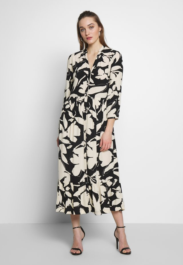 Shirt dress - black/macadamia