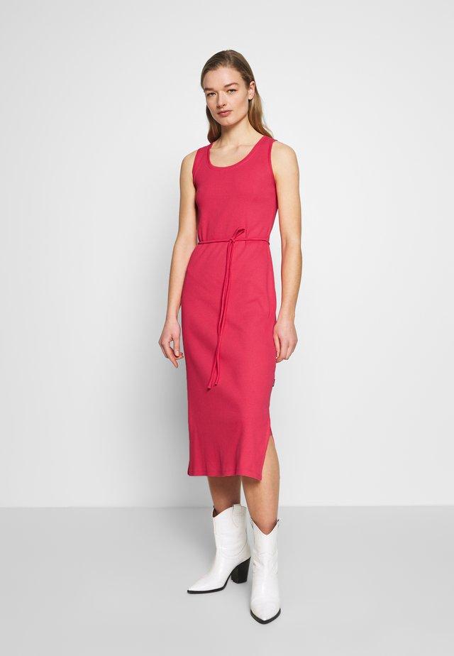 TIE WAIST MIDI DRESS - Etui-jurk - island pink