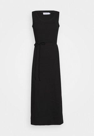 TIE WAIST MIDI DRESS - Etui-jurk - black