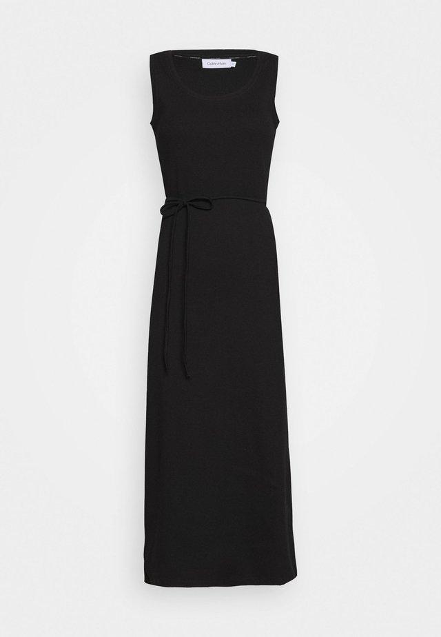 TIE WAIST MIDI DRESS - Fodralklänning - black