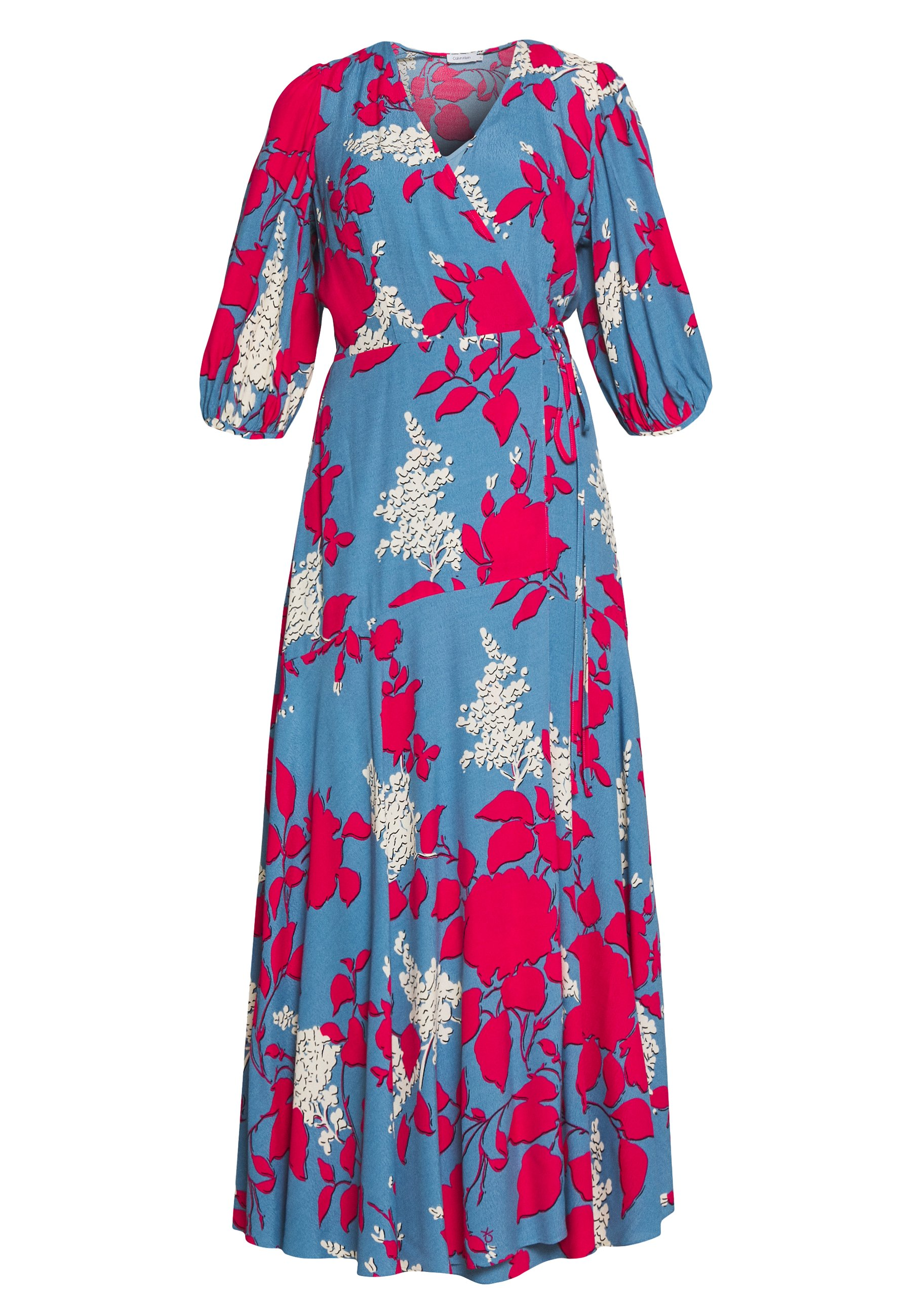 Calvin Klein Wrap Dress - Maxi Blue Heaven