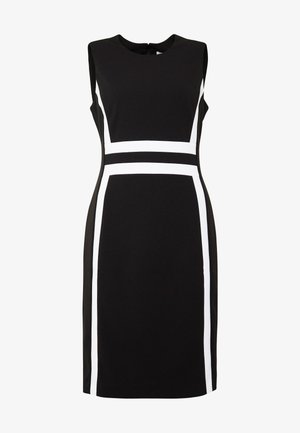 CONTRAST PANEL DRESS NS - Day dress - black