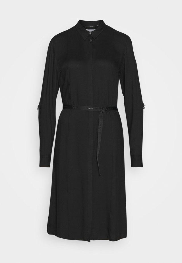 TWILL SHIRT DRESS - Sukienka z dżerseju - black