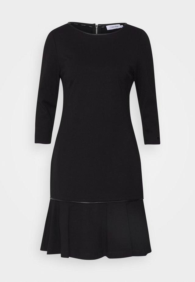 MILANO DROP DRESS - Sukienka z dżerseju - black