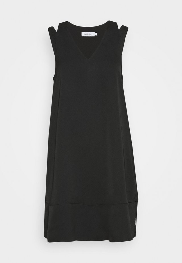 FLARED DRESS - Vestido informal - black