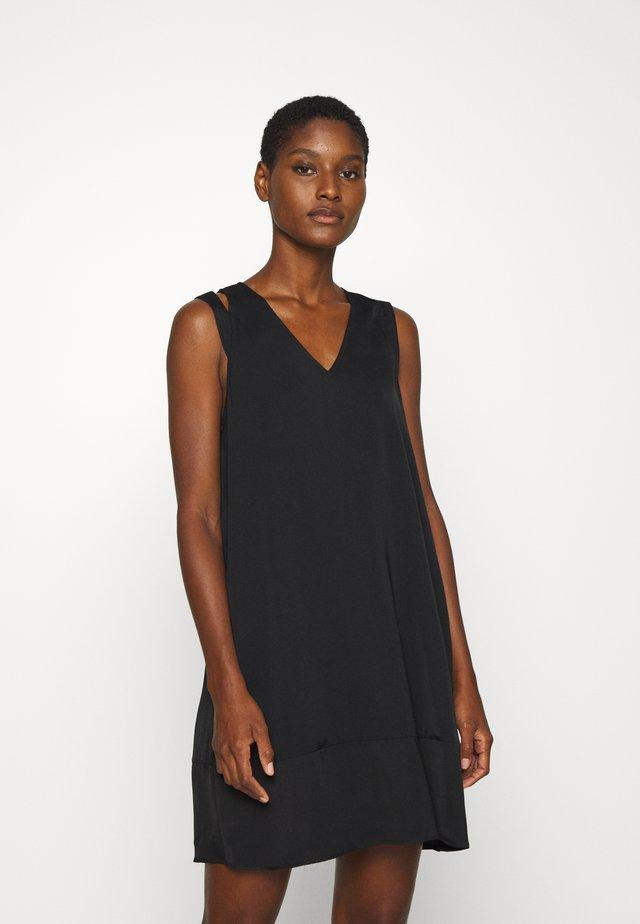 FLARED DRESS - Sukienka letnia - black