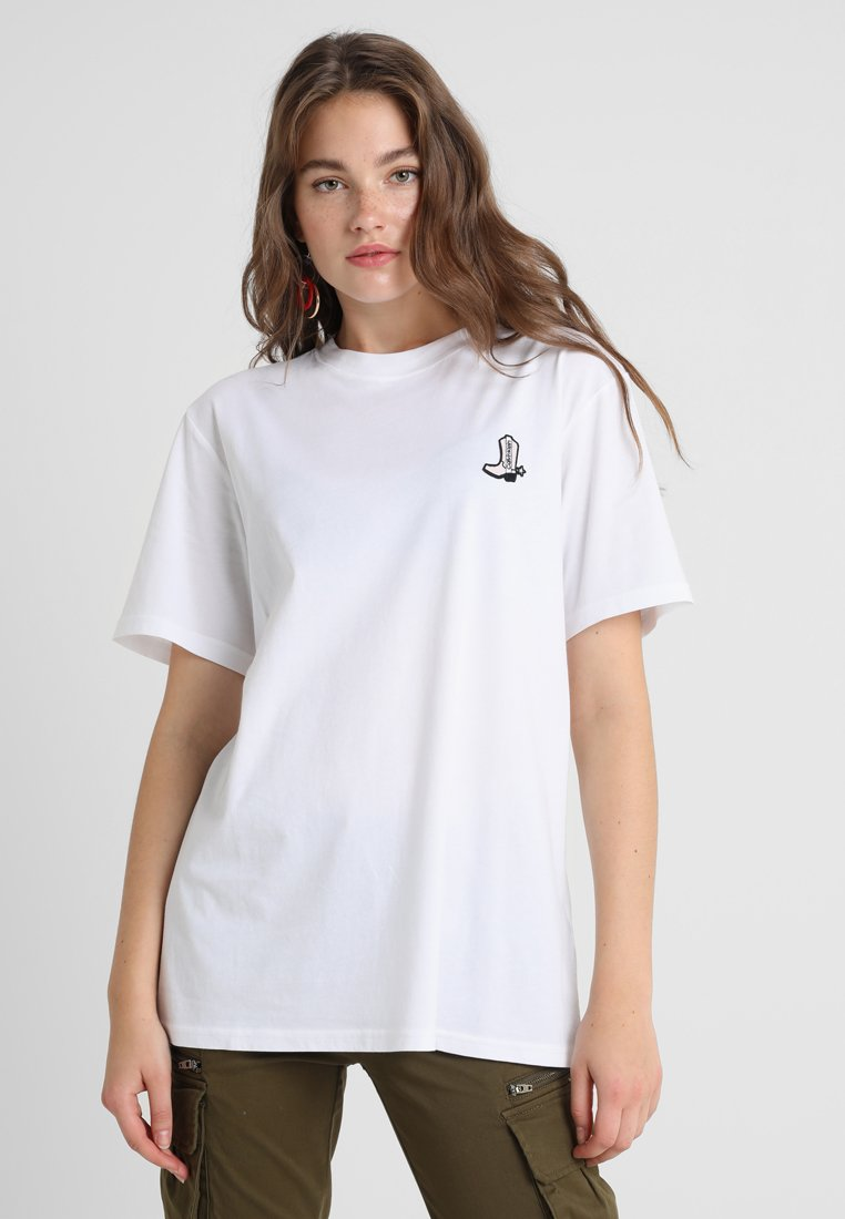 Calvin Klein - BOOT PATCH RELAXED - T-Shirt print - white