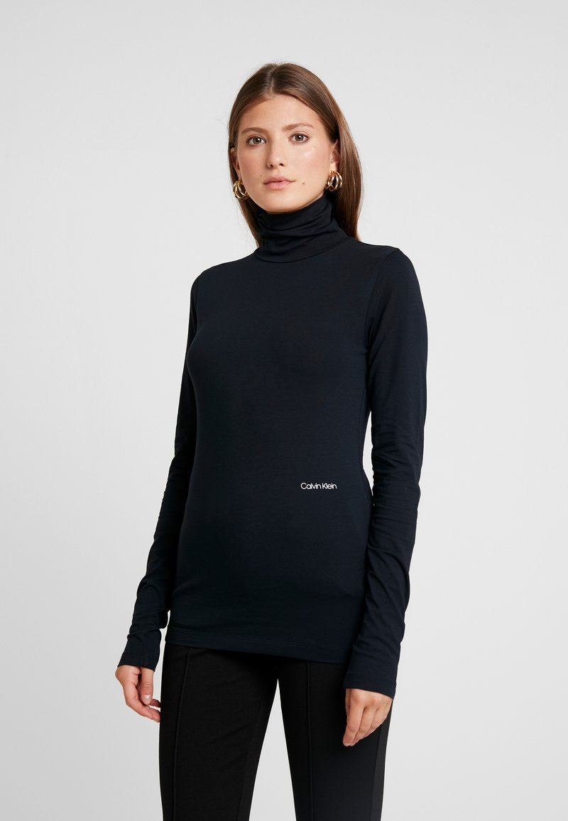 Calvin Klein - TURTLE NECK - Long sleeved top - black