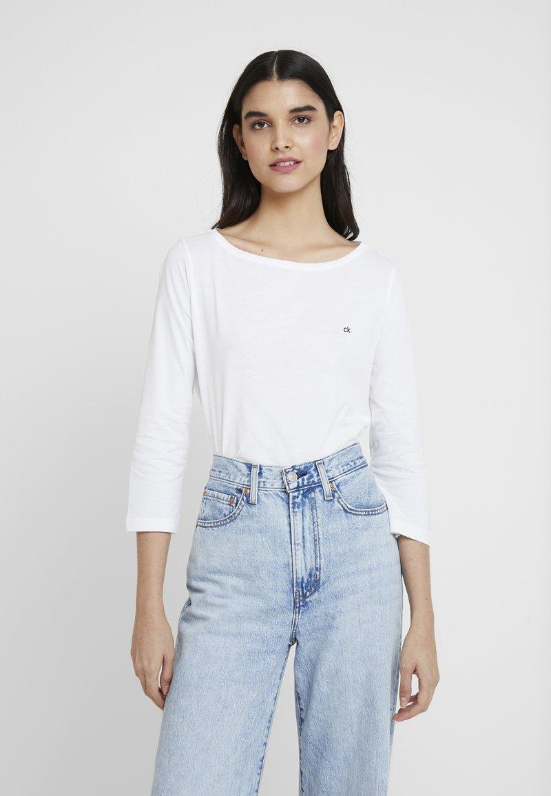 Calvin Klein - BOAT NECK - Langarmshirt - white