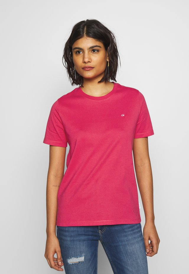 SMALL LOGO EMBROIDERED TEE  - T-shirt - bas - island pink