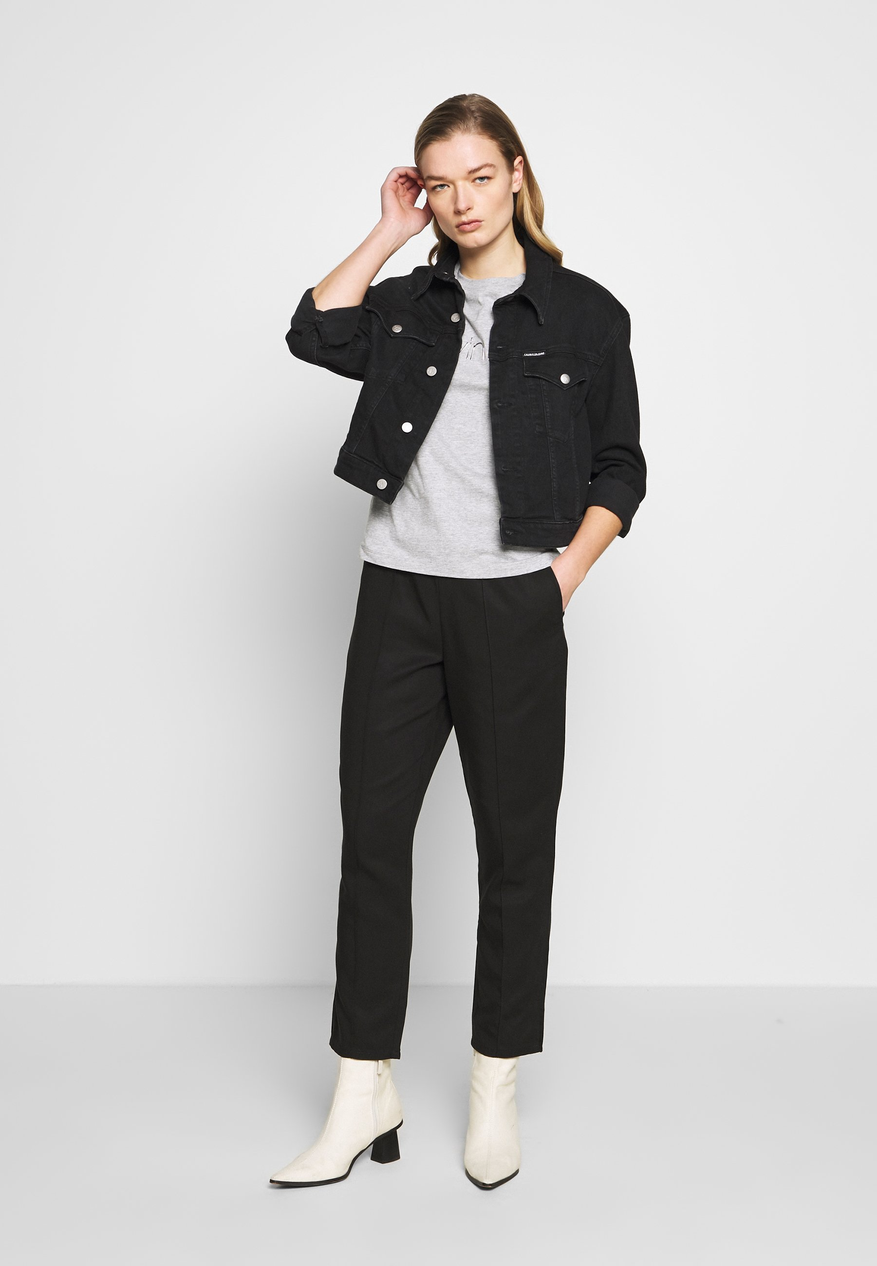 Calvin Klein T-shirt z nadrukiem - light grey heather