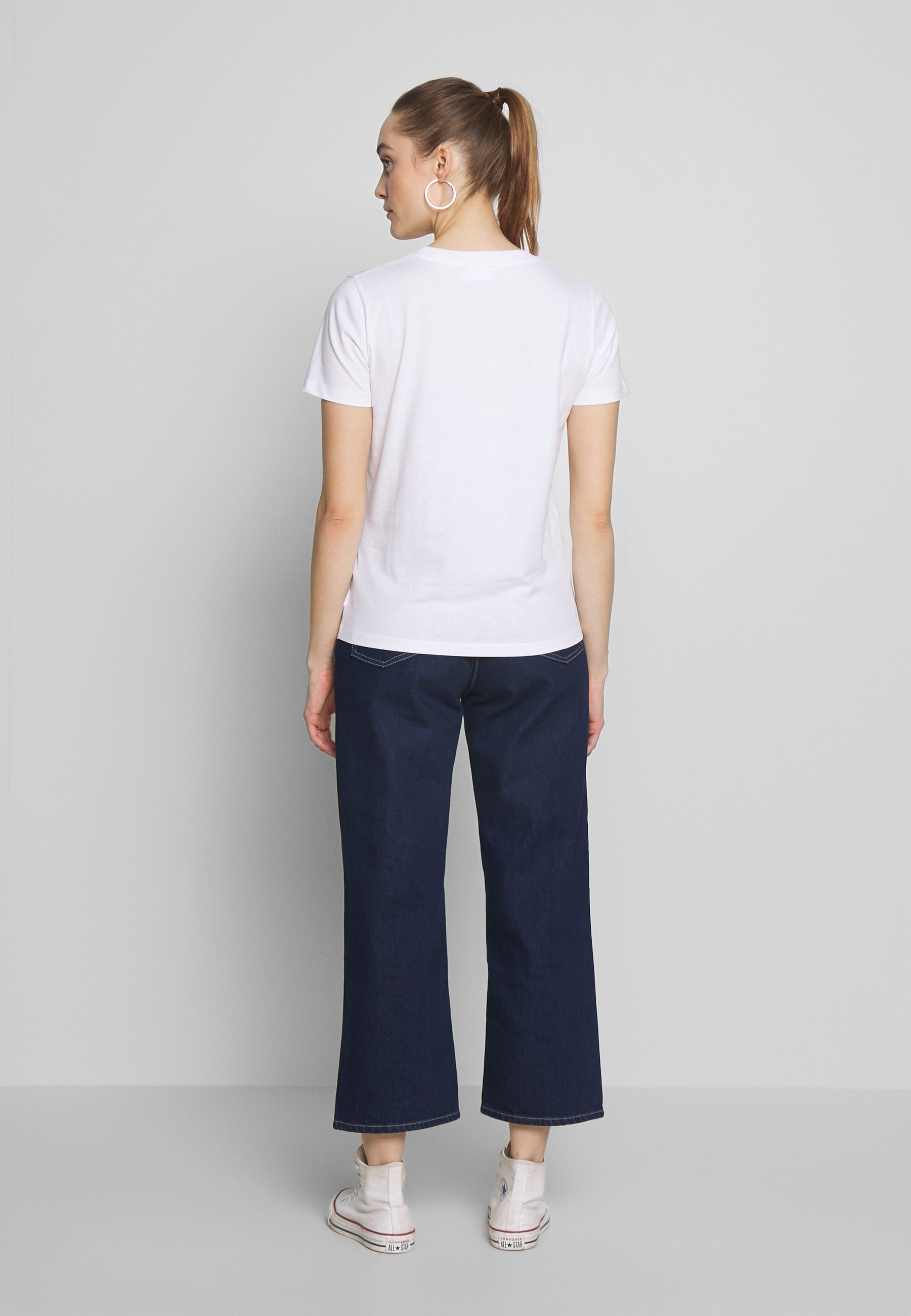 Calvin Klein Core Logo Crew Tee - T-shirt Imprimé White