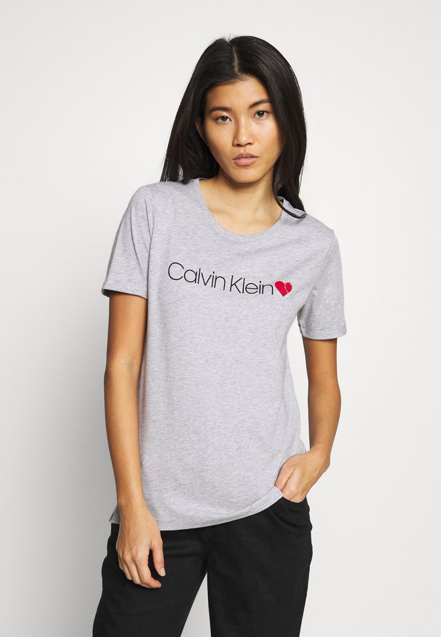 LOGO HEART - T-shirt med print - light grey heather
