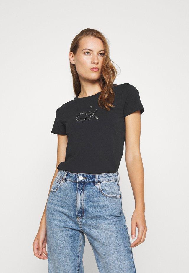 STUD LOGO - T-shirt imprimé - black