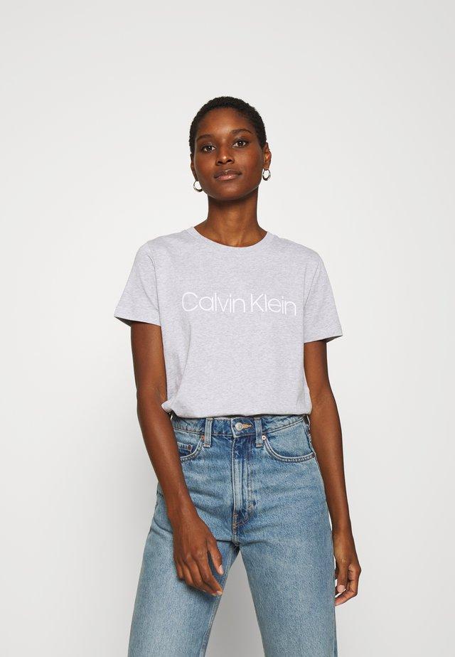 CORE LOGO - T-shirt z nadrukiem - light grey heather
