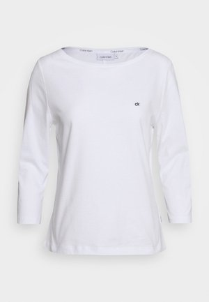 3/4 SLEEVE BOAT NECK - Long sleeved top - white