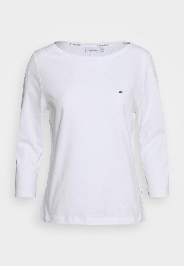 3/4 SLEEVE BOAT NECK - Top sdlouhým rukávem - white