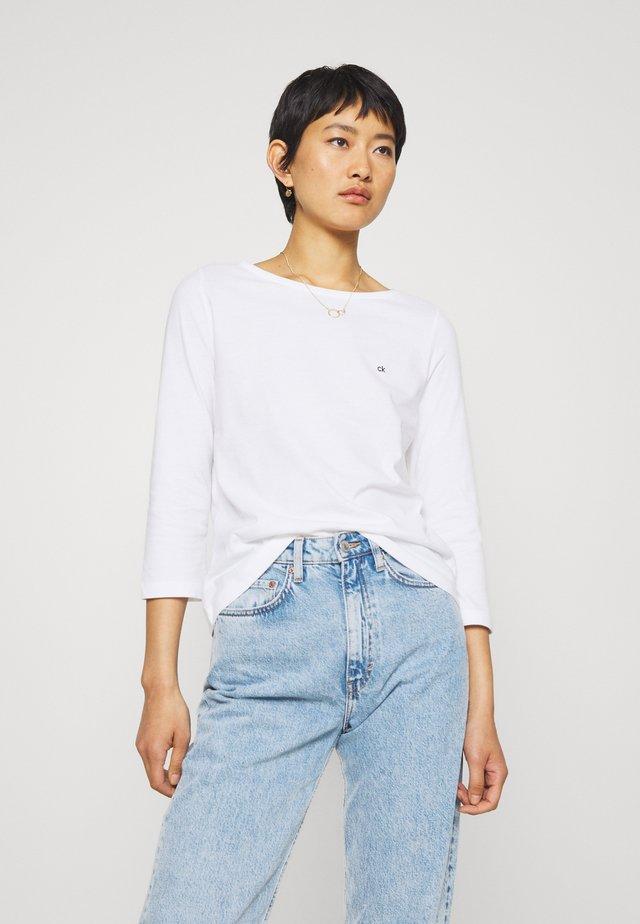 3/4 SLEEVE BOAT NECK - Bluzka z długim rękawem - white