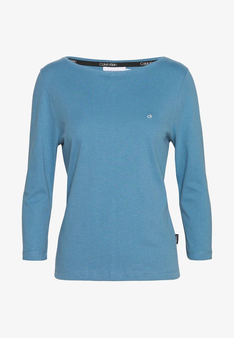 Calvin Klein - 3/4 SLEEVE BOAT NECK - Långärmad tröja - blue heaven