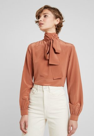 NECK TIE BLOUSE - Bluser - brown
