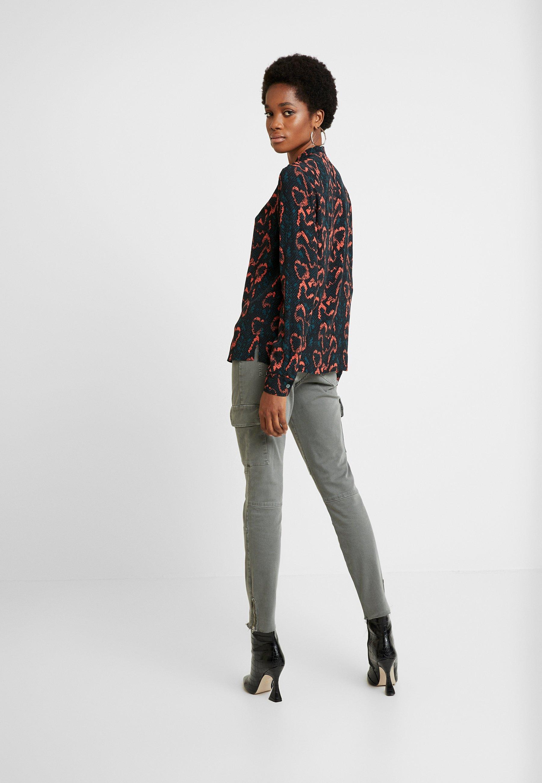 Calvin Klein PLACKET DETAIL - Bluzka - red