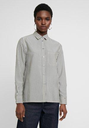 STRIPE POCKET DETAIL - Button-down blouse - black