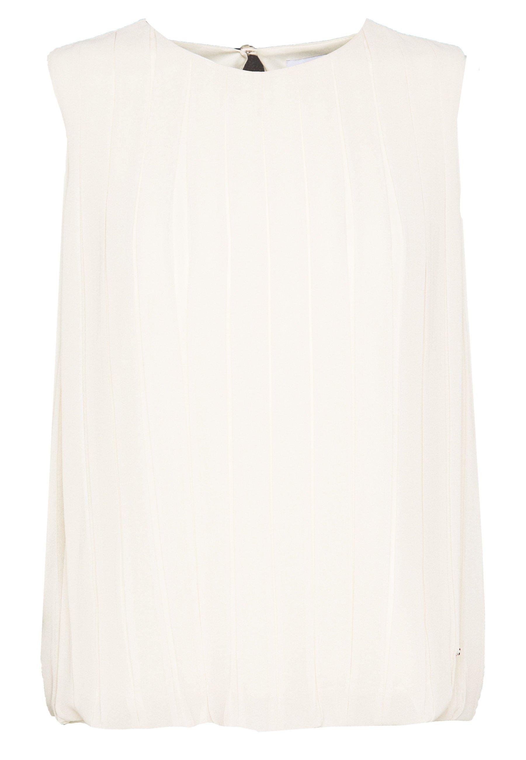Calvin Klein PLEAT DETAIL TOP - Bluzka - white smoke
