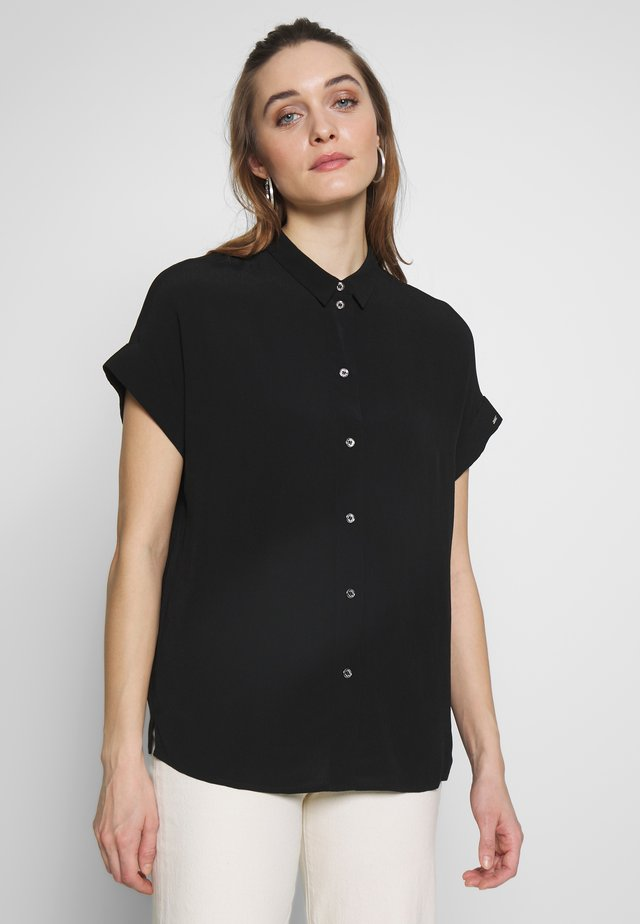 TURN UP SHIRT - Skjorta - black