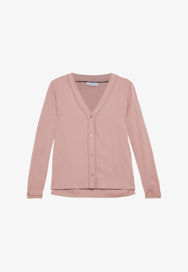 BUTTON UP BLOUSE - Blus - muted pink