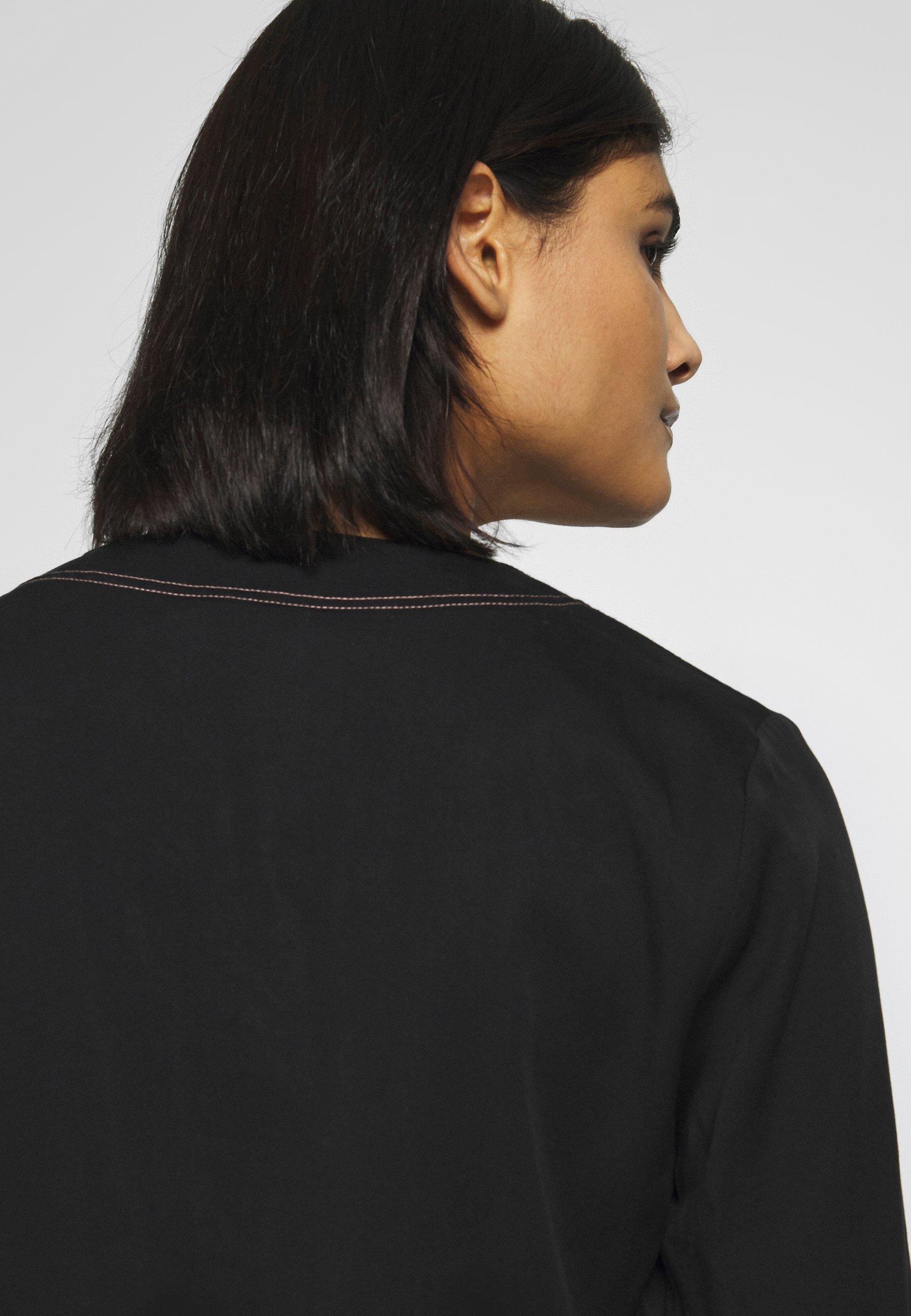 Calvin Klein BUTTON UP BLOUSE - Bluzka - black