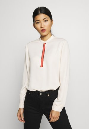 PLACKET DETAIL BLOUSE - Blouse - white smoke