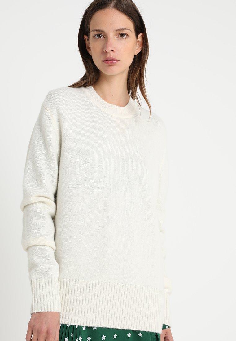 Calvin Klein - LOGO CASHMERE - Pullover - white