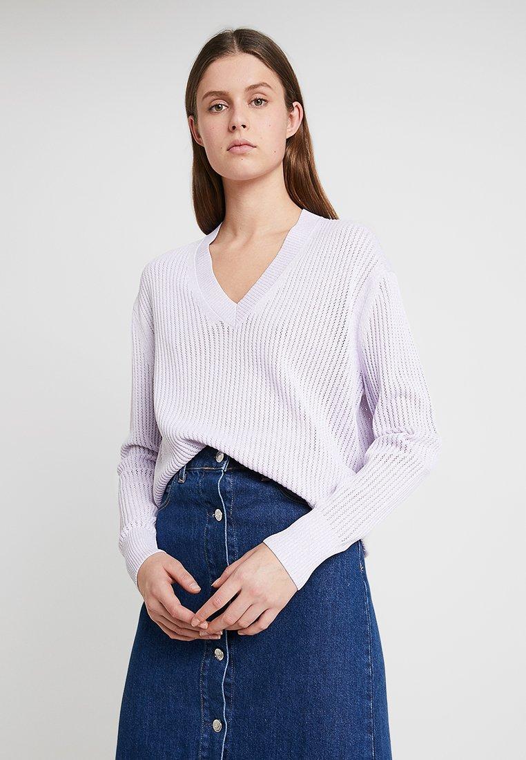 Calvin Klein - MICRO MOULINE - Strickpullover - purple