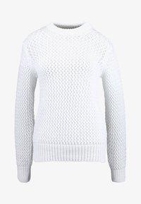 Calvin Klein - NOVEL OPENWORK - Jersey de punto - white - 6