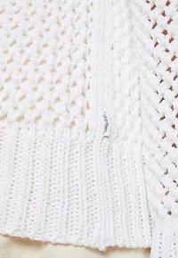 Calvin Klein - NOVEL OPENWORK - Jersey de punto - white - 7