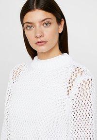 Calvin Klein - NOVEL OPENWORK - Jersey de punto - white - 4